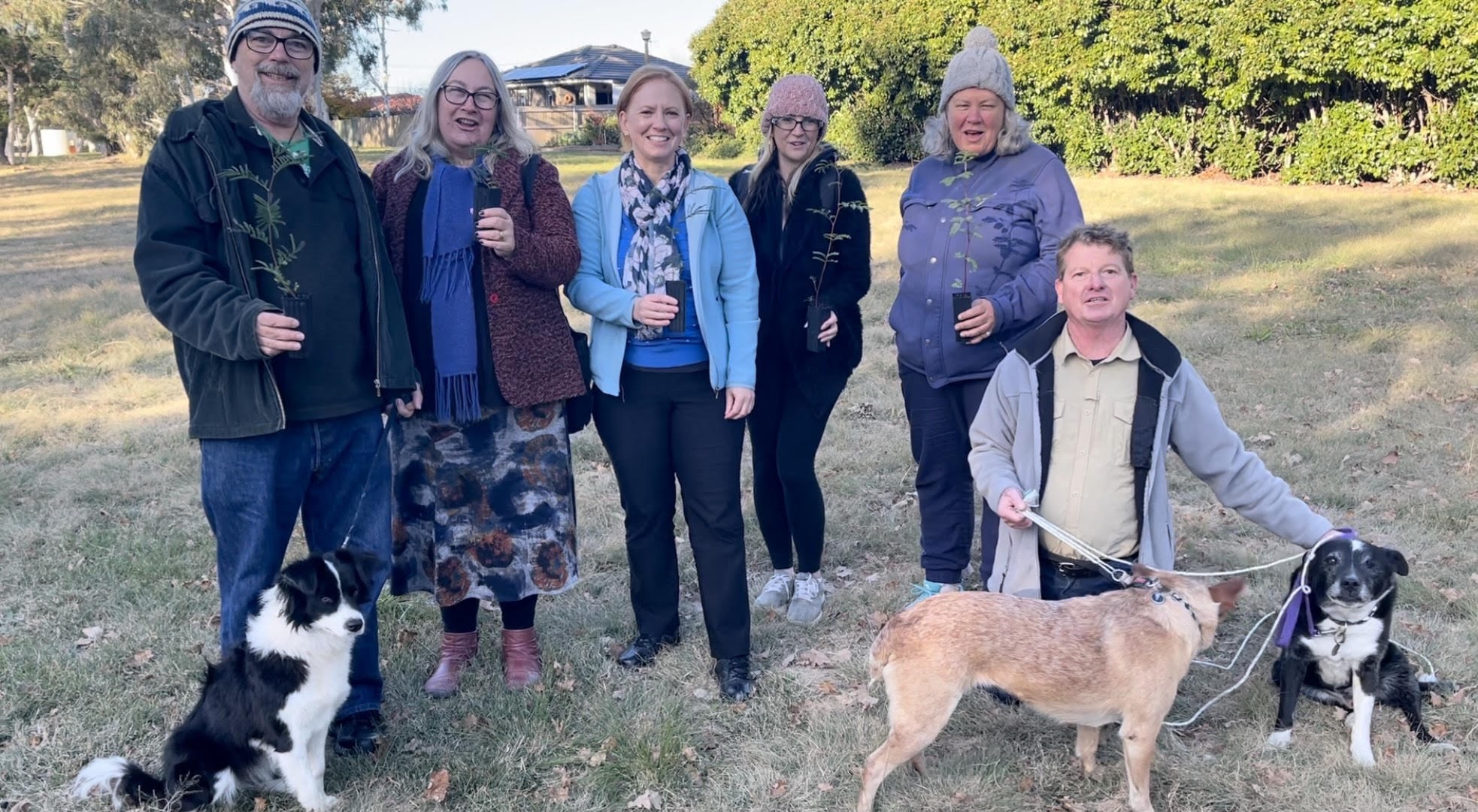 Holt Residents at the Crowd Funding Video Shoot on 16 May 2021